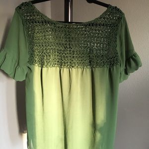 BCBG Green blouse